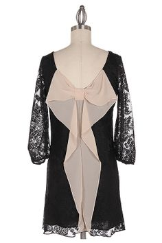 Find this little black lace bow back dress on Facebook page: The Whimsical Owl Boutique