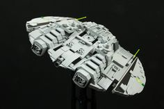 Classic Raider from Battlestar Galactica series My interpretation of this classic model / Raider 1537 bricks / customized decals / Lego stand