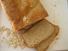 Maple Oatmeal Bread - after cooking steel cut oats on the stove top, make the dough in the hread machine but bake in standard loaf pans in the oven.
