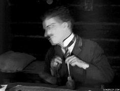 (u have to click link to open for animation)   Charlie Chaplin. ...I do this a lot ;)