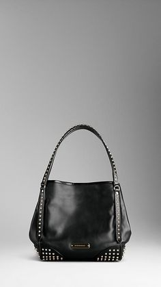 Small Bridle Leather Studded Tote Bag | Burberry