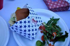 Kara's Party Ideas - use a snack box (printable) for holding hamburgers