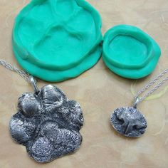 how to make a dog paw print in plaster