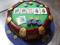A cake for a poker player? Why not making a poker themed cake? Here's a gallery, where you can find all sorts of decorating ideas for the mostbeautiful and gorgeous card and poker themed cakes. 3d Cakes, Mini Cakes, Cupcake Cakes, Cakes For Men, Cakes And More, Beautiful Cakes, Amazing Cakes, Poker Cake, Different Cakes
