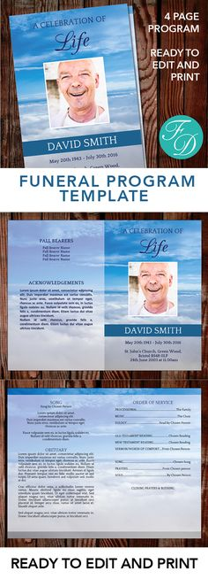 How to Make an Obituary Using Microsoft Word eHow Obituary - funeral program template free download