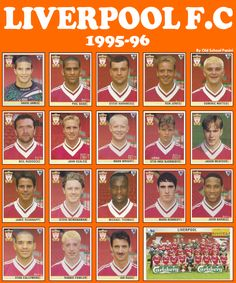 Old School Panini: UK Football Team - Liverpool F.C 1995-96 #LFC