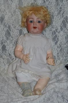 Antique Doll Bisque Baby Wobble Tongue Kammer & Reinhardt Simon and Halbig 26' TALL BIG