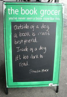 The Book Grocer, Melbourne, Australia | 15 Hilarious Bookstore Chalkboards