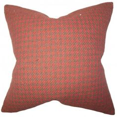 This modern accent pillow instantly adds a dash of style to your interiors. With a combination of a classic plaid pattern and a bold color palette, this decor pillow brings a new dimension to your living space. Jazz up your sofa, bed or couch with a few pieces of this throw pillow. Constructed with a blend of high-quality materials: 50% polyester and 50% cotton. $55.00 #pillow #homedecor #tosspillow #red #interiorstyling