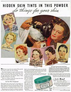 Ponds Face Powder, 1935