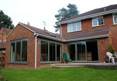 Kitchen and Garden Room Extension House Extension Plans, Garage Extension, House Extension Design, Extension Designs, Glass Extension, House Design, Extension Ideas, Building Extension, Side Extension