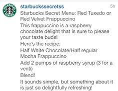 Starbucks secret menu drinks!