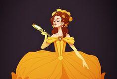 Les Princesses Disney vêtues comme à l'époque