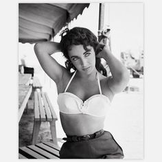 Luv it.. Elizabeth Taylor Pose Canvas now featured on Fab.