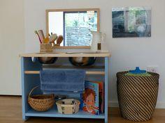 Montessori Home Care of Self Area Montessori Toddler Rooms, Montessori Bedroom, Montessori Jobs, Montessori Materials, Baby Boys, Baby Play, Carters Baby, Boys Bedroom Curtains, Bedroom Kids