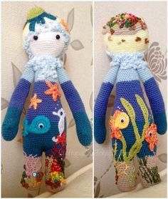 Shellie of the Sea... Hand made by craftypaulaa. BINA pattern by Lalylala, Lydia Tresselt.