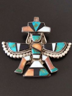 *OLD PAWN* ZUNI KNIFEWING COLLECTIBLE PIN *RARE*