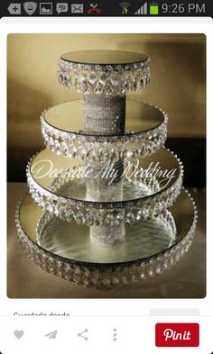 50 Trendy wedding cakes with bling crystals cupcake stands Cupcake Stand Wedding, Cake And Cupcake Stand, Wedding Cake Stands, Wedding Cupcakes, Cupcake Display, Cupcake Towers, Cupcake Cakes, Bling Wedding, Crystal Wedding