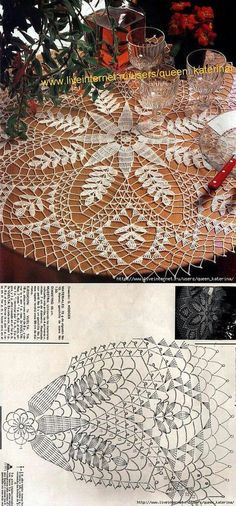 Delicate crochet lace. Doily N