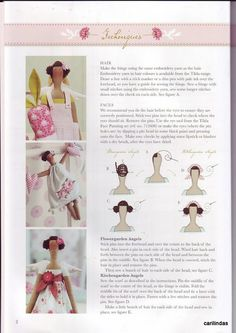 How to make hair and faces on Tilda dolls.