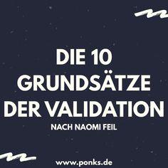 Die 10 Grundsätze der Validation nach Naomi Feil - All About Health Massage, Nurse Life, Psychology, How To Plan, Health, Alzheimer, Nursing, School, Kids