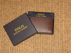POLO  RALPH LAUREN  MEN'S  LEATHER  WALLET  BROWN   NEW IN GIFT BOX  $85 TAG #PoloRalphLauren #Bifold