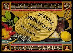 trade card for Russell Morgan & Co. printers, Cincinnati, Ohio, circa 1900