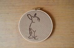 Hang this embroidery hoop on your wall.