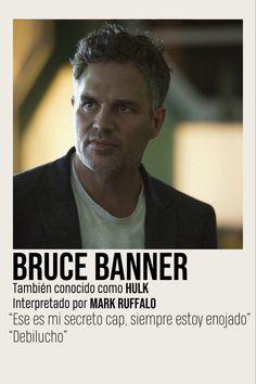 Marvel Movie Posters, Marvel Quotes, Marvel Characters, Marvel Movies, Fictional Characters, Marvel Fan Art, Marvel 3, Mark Ruffalo, Bruce Banner