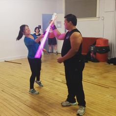 Practicing our mini-gauntlet #lightsaber #stagecombat #starwars #jedi #practice