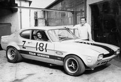 Basil Green and driver Bob Olthoff Ford Capri, Sport Cars, Race Cars, Motor Sport, Ford Sierra, Old School Cars, Ford Classic Cars, Old Fords, Ford Escort