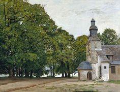 Claude Monet - The Chapel Notre-Dame de Grace at Honfleur, 1864