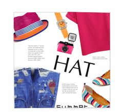 """Top It Off: Summer Hats"" by meyli-meyli ❤ liked on Polyvore featuring My Bob, A.N.A, Corum and summerhat"