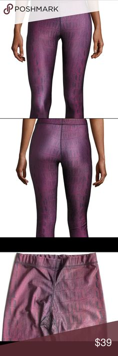Zara Terez Performance Leggings NWOT Made in New York City...Zara Terez. Croc print legging. Inseam is 21. Rise is 8. Sold out in Neiman Marcus. Only pair of large for sale on Plshmark. Zara Terez Pants Leggings