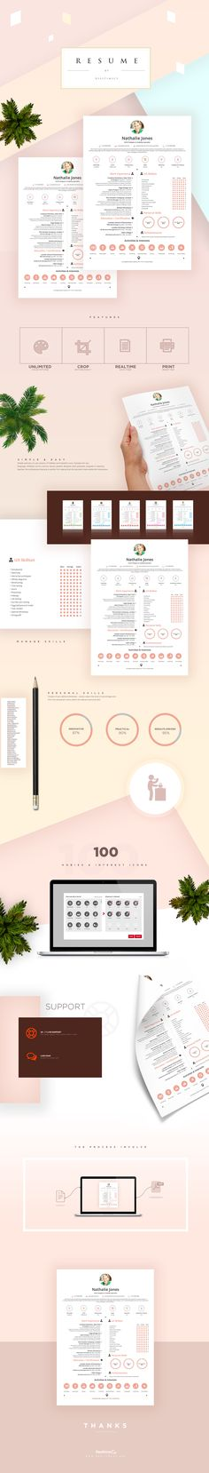 Flexi Resume Builder Template enables you create your CV online - awesome resume builder