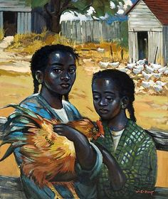 William Edouard Scott (1884-1964) - Artists - Michael Rosenfeld Art///Haitian art. A wonderful painting! Note by Roger Carrier