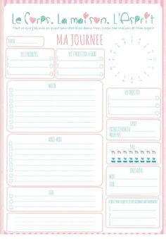 #Cadeau: la page #Organisation de ta journée à #Imprimer!
