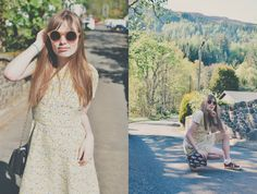 A Yellow Summers Dress in The Highlands, Style inspiration, fashion blogger, ootd, summer, ss17, 5ft Life Blog