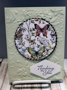 Botanical Butterfly SAB Paper (Stamping With Tamie) Handmade Greetings, Greeting Cards Handmade, Butterfly Cards, Flower Cards, Cute Cards, Diy Cards, Karten Diy, Ppr, Making Greeting Cards