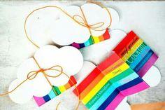 Rainbow invitation Christening Decorations, Rainbow Invitations, Rave, Greece, Parties, Kids, Unicorn, Raves, Greece Country