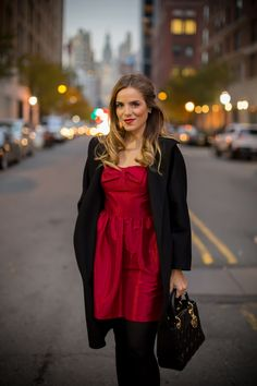 Red Bow Dress - Gal Meets Glam