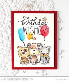 Hello crafty friends, happy Monday! Welcome to the My Favorite Things April Release Countdown Day 2. My card today features the Four-Legged Friends Stamp Set & Die-namics along with other MFT g…