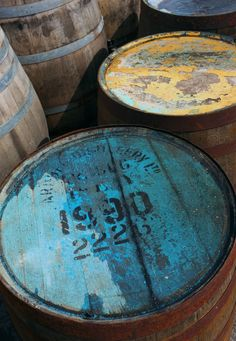 Barrels at Ardbeg.