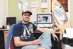 Phil Watson, creator of Shaaark! cartoons. Yep, that's my little brother!