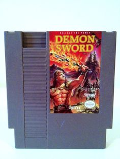 Vintage Demon Sword NES Nintendo 1980s Game