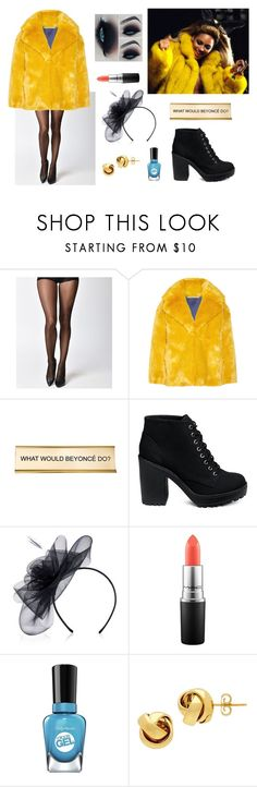 """""""beyonce2"""" by tayaberens on Polyvore featuring Leg Avenue, Diane Von Furstenberg, He Said, She Said, MAC Cosmetics, Sally Hansen and Lord & Taylor"""