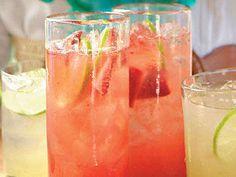 Strawberry Margarita Spritzers