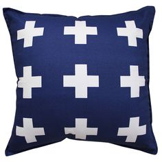 hardtofind. | Crosses cushion cover in navy