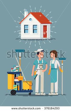 Clean house vector concept design. Cleaning workers characters and cleaning…