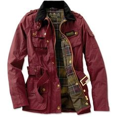 MODE THE WORLD Burgundy Fall Barbour Jacket found on Polyvore featuring polyvore, fashion, clothing, outerwear, jackets, barbour, red jacket, burgundy jacket and barbour jacket